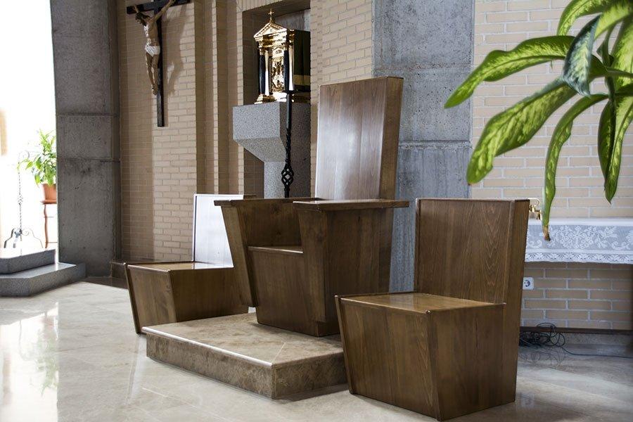 Sede central de madera de castaño   Sede para Iglesia